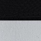 Czarny + srebrne końce